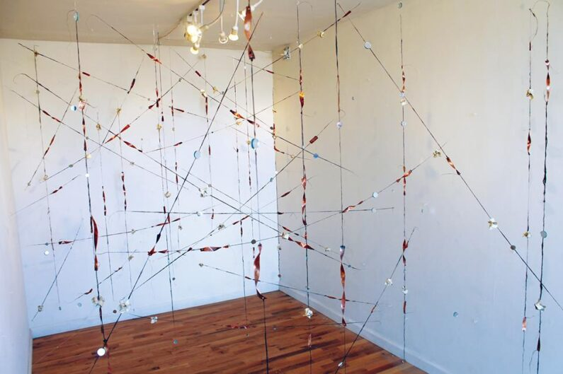 "Solo Exhibit: ""Threading Conjecture. February 2016."